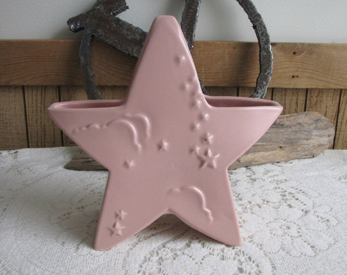 Abingdon Pink Star Planter Baby Gift and Flowers American Potteries Vintage Planters and Pots
