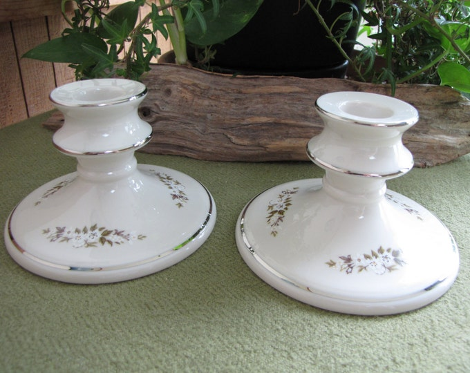 Edgerton Candle Holders Spring Rhapsody by Pickard China