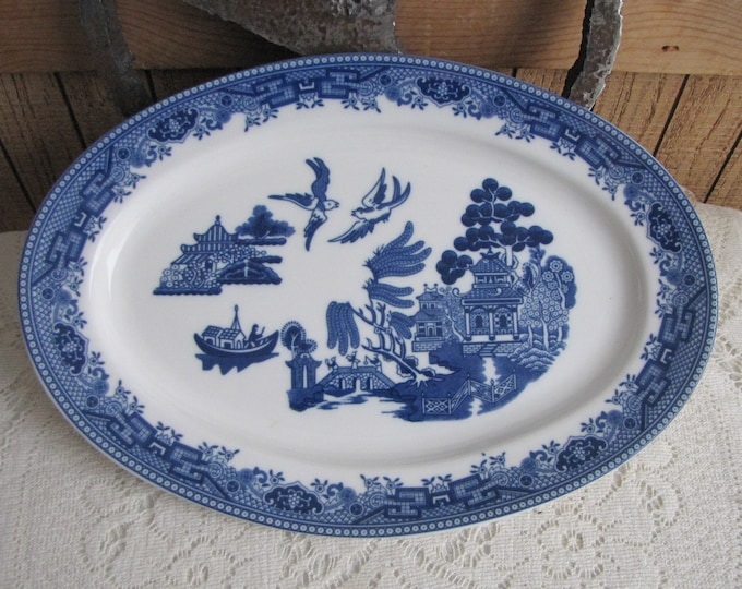 Blue Willow Ware dinner platter vintage dinnerware and replacements