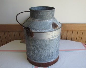 Metal Milk Can Vintage Farm Tools and Implements