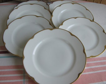 Royal Austrian porcelain bread plates set of 7 Antique Dinnerware and Replacements