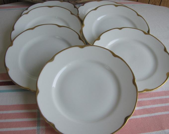 Royal Austrian porcelain bread plates set of 7