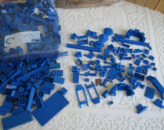 Blue Lego Bricks and Specialty Bricks Vintage Toys and Legos