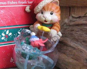 Enesco Ornament Christmas Fishes From Santa Paws The Treasury of Christmas Ornaments