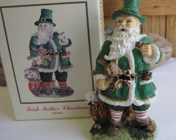The International Santa Claus Collection Irish Father Christmas 1993 Ireland Christmas Decorations