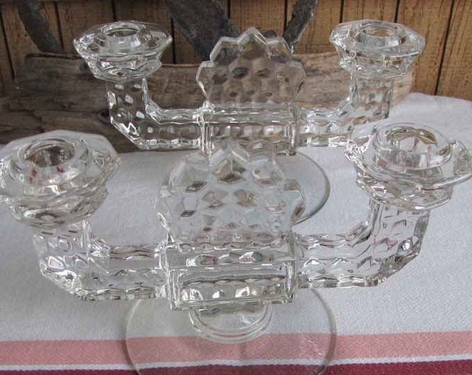 Fostoria American candle holders set of 2 Vintage Dinnerware and Replacements