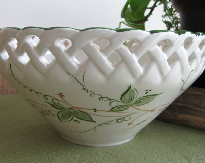Vintage Ceramic Bowl Andrea by Sadek Hand Painted Made in Portugal