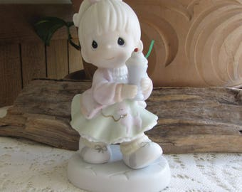 Precious Moments Soda-Licious Figurine Heart Symbol 1996 Retired Club 1996 Members Only