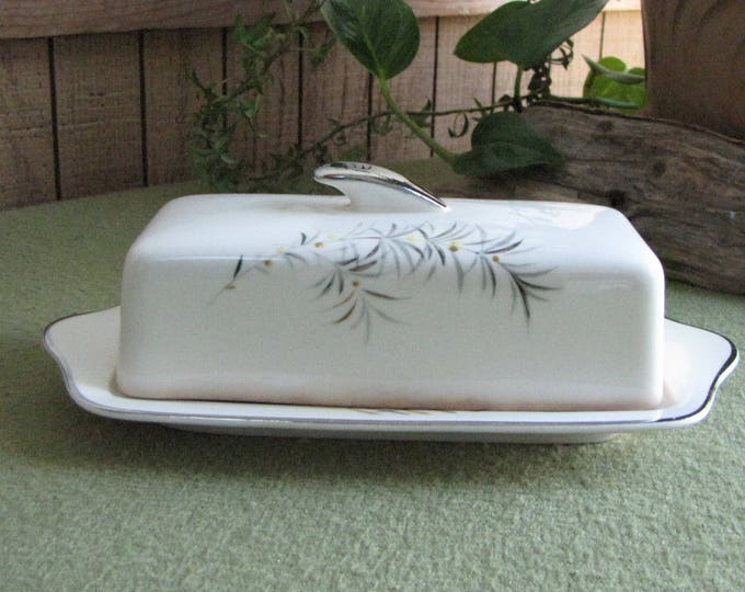 Butter Dish Pope Gosser Wind Song Futura Line #8006 Vintage Dinnerware and Replacements