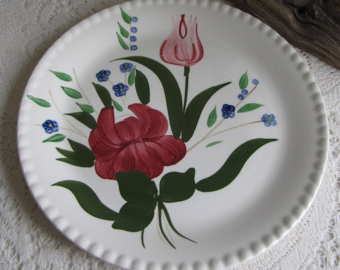 Southern Pottery Blue Ridge Bluebell Bouquet Pattern Vintage Farmhouse and Rustic