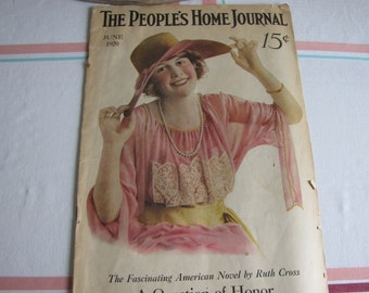 People's Home Journal Magazine June 1920 Antique Magazine