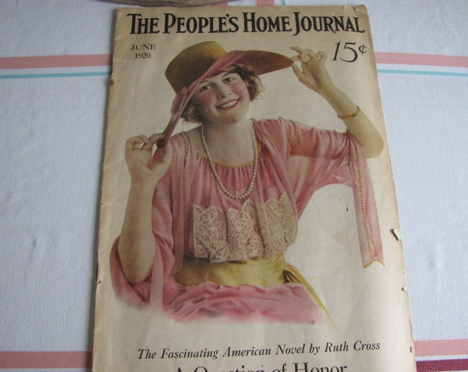 People's Home Journal Magazine June 1920 Antique Magazine