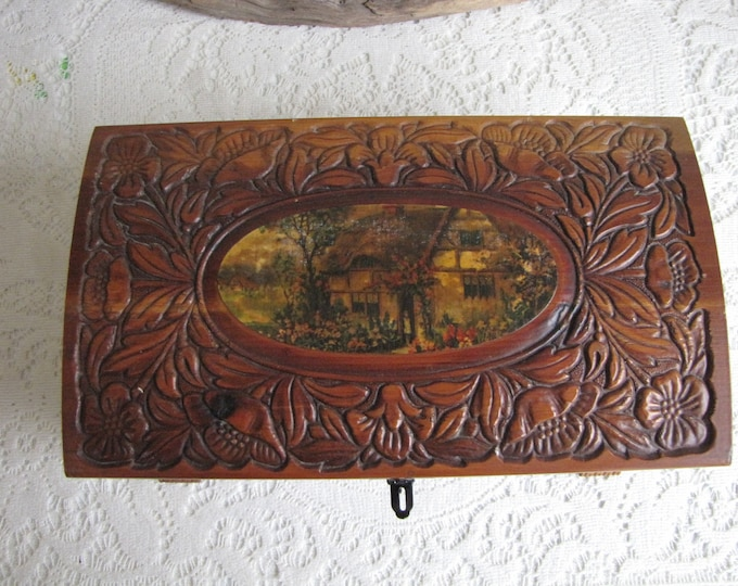 Carved Jewelry Box Vintage Boxes