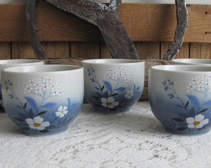 Otagiri tea cups set of 5 hand painted Vintage Tea Cups