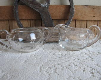 Atomic cream and sugar bowl Vintage Serving Ware