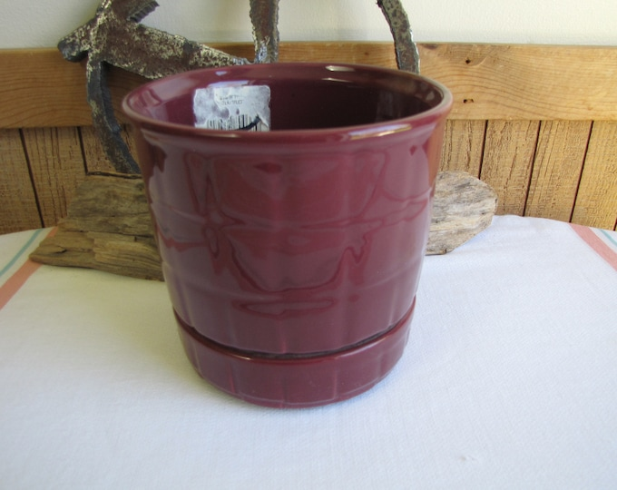 Haeger Pottery Self Watering Planter Wineberry #800 Vintage Planters and Pots