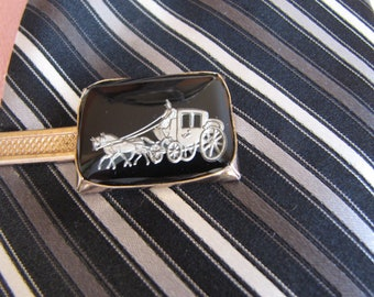 Carriage Tie Clip Vintage Men's Jewelry and Accessories