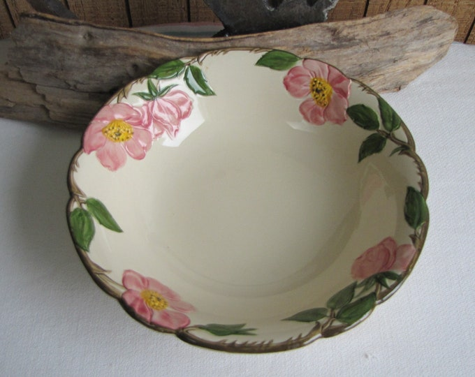 Franciscan Desert Rose Vegetable Bowl Vintage Dinnerware and Replacements 8-inch Serving Bowl Circa 1950s