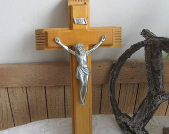 Vintage Last Rites Crucifix Wooden Wall Cross Catholic Religious Symbols