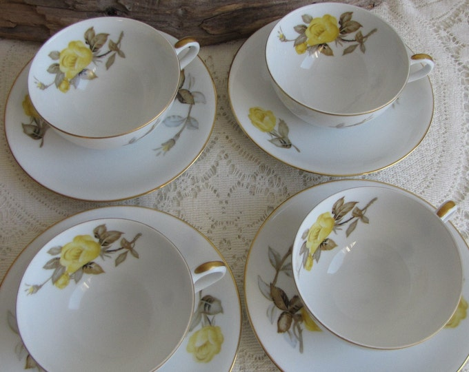 Cotillion cups and saucers Sango 4 sets