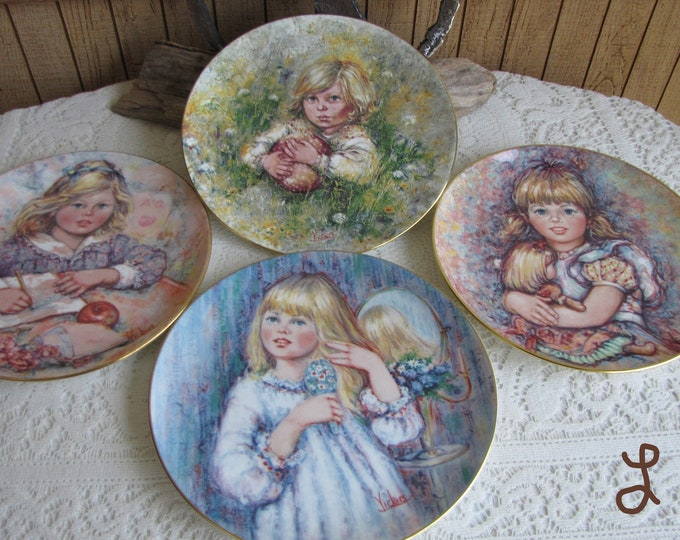 Mary Vickers Decorative Plates The Blossoming of Suzanne Wedgwood Series Bradford Exchange
