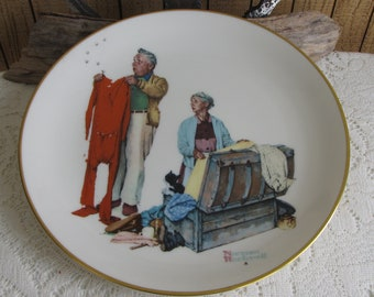 Norman Rockwell Chilly Reception Gorham Collectible Plate 1978 Limited Edition