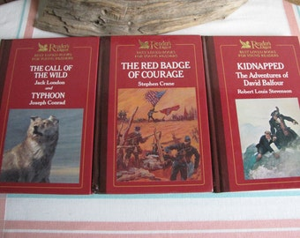 Readers' Digest Best Loved Books for Young Readers Set of Three (3) Vintage Literature and Books