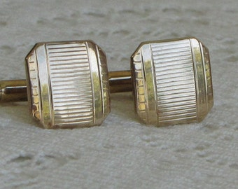 Swank Gold Toned Cuff Links Vintage Men's Jewelry and Accessories