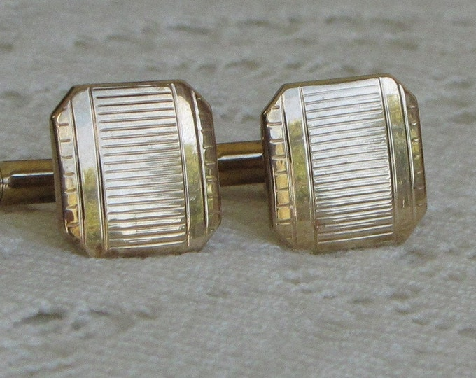Swank cuff links gold toned Vintage Men's Jewelry and Accessories
