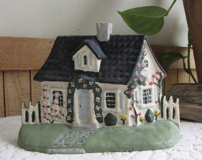 Cast Iron Cottage Door Stop Vintage and Whimsical Cottages Home Decor