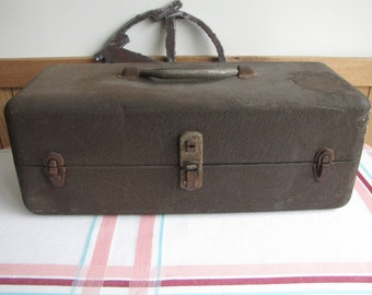 Metal Tackle Box Vintage Fishing and Outdoor Sports