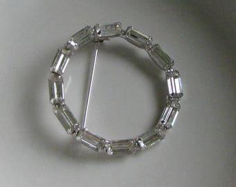 Circular Rhinestone Brooch Vintage Women's Jewelry and Accessories