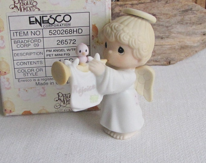 Precious Moments Angel with Trumpet Mini Figurine Sandal Symbol 2000 Retired Angel Figurines
