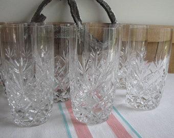 Lenox Charleston crystal highball tumblers set of 7 Vintage Bar and Drinkware