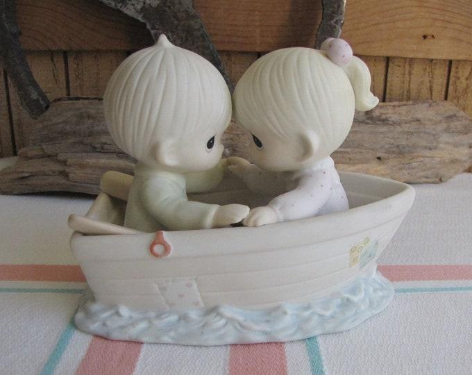 Precious Moments Friends Never Drift Apart Sailboat Symbol (1995) Retired