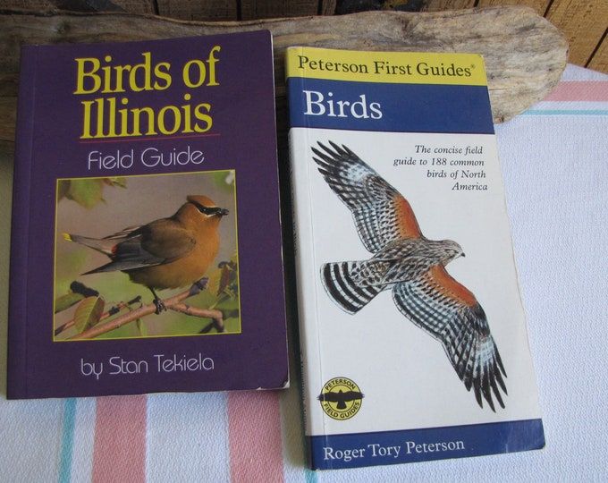 Bird Field Guides Peterson First Guides and Birds of Illinois Vintage Bird Reference Books