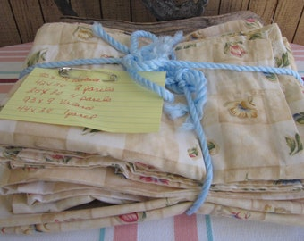 Vintage Linens Curtain Yellow Floral Kitchens