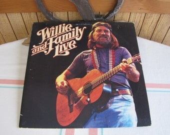 Willie and Family Live Vinyl Record 2 Album Set 1978 Vintage Music and Albums