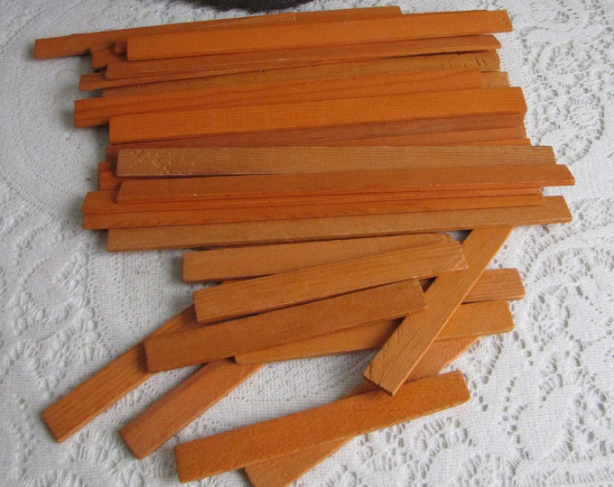 Lincoln Logs Wooden Specialty Orange Building Slats Vintage Toys