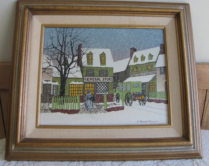 H. Hargrove General Store Oil Painting Americana Collection Vintage Art and Home Decor Limited Edition