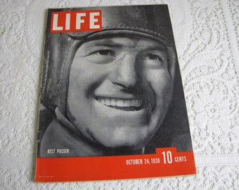 Life Magazines 1938 October 24 Best Passer (Sid Luckman) Vintage Magazines and Advertising