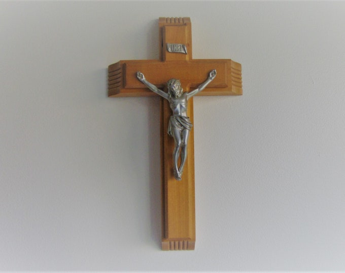 Vintage Last Rites Crucifix Wooden Wall Cross Catholic Religious Symbols