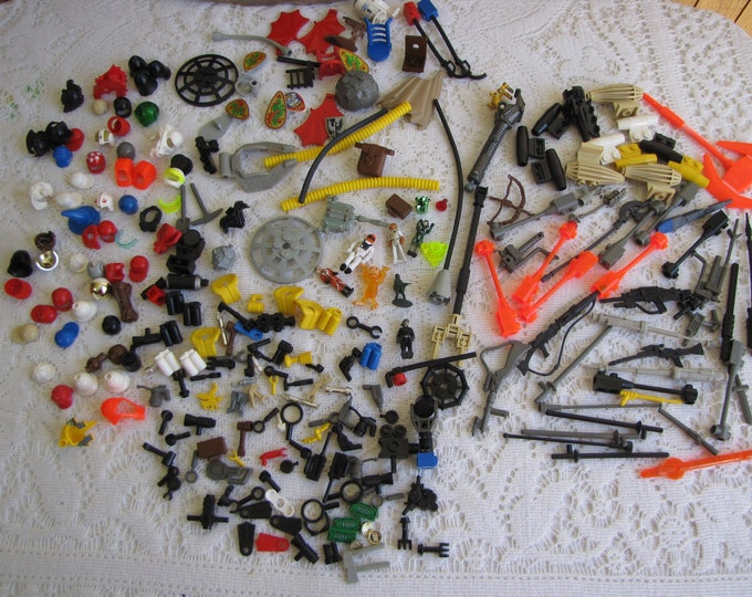 Legos-Weapons and Accessories for Lego People Vintage Toys and Building Blocks