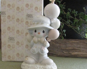 Precious Moments I Get a Bang Out of You Figurine Vessel Symbol 1991 Clown Series Retired