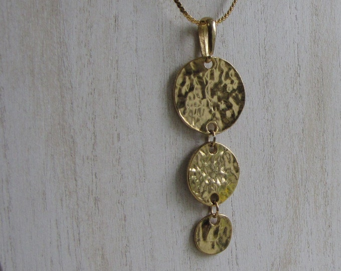 Gold Discs Necklace Vintage Jewelry and Accessories