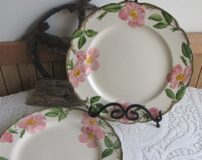 Franciscan Desert Rose Dinner Plates Set of Four (4) Vintage Dinnerware and Replacements Made in California