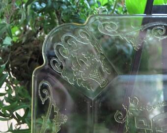 Lorain Yellow Depression Glass Salad Plates 1929 to 1932 Set of Six (6) Indiana Glass