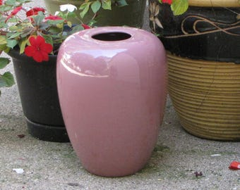 Haeger Pottery Mauve Urn Large Ginger Jar Styled Vase Made in America #4435