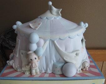 Precious Moments Sammy's Circus Tent Lighted Figurine Trumpet Symbol 1994