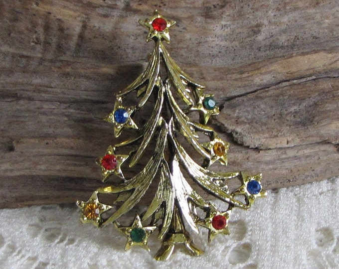 Christmas Tree Brooch Vintage Holiday Jewelry and Accessories